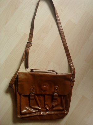 College Bag brown imitation leather