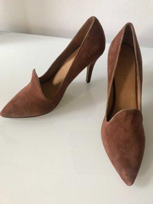 Esprit Chaussure à talons carrés brun-cognac