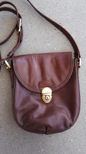 braune Vintage Handtasche / Umhängetasche - PICARD - Leder - Bodycross