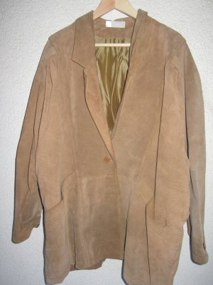 braune Vintage Lederjacke Retro oversize