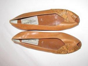 braune Vintage Retro Schuhe Gr. 7 1/2