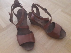 Kickers Wedge Sandals brown
