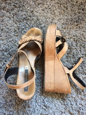 Alberto Fermani Wedge Sandals beige