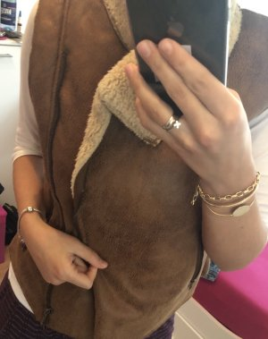 Stella Morgan Smanicato di pelliccia marrone-bianco sporco