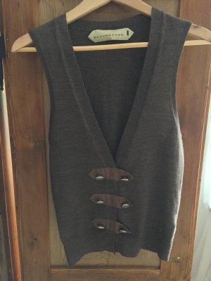 Braune Weste aus Wolle mit Doppelreihige Knöpfe