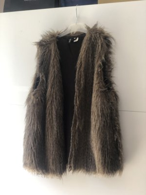 H&M Fur vest brown