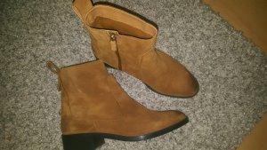 Braune Wildleder Chelsea Boots 39