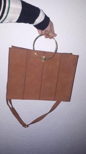 braune wildleder Handtasche