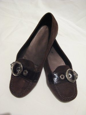 Geox Slippers brown red-black brown leather