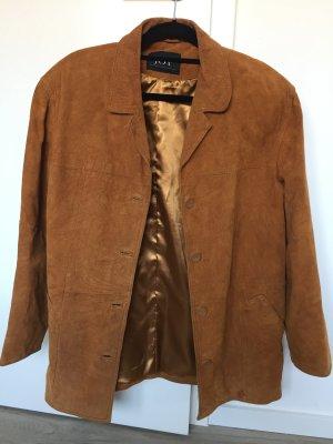 Braune wildleder Vintage Jacke