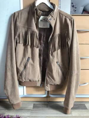Hollister Veste motard chameau-marron clair