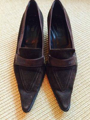Esprit Zapatos Informales marrón-negro Gamuza