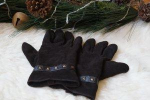 Braune Winterhandschuhe Wildleder Gr.L mit Nieten Touchscreen Funktion