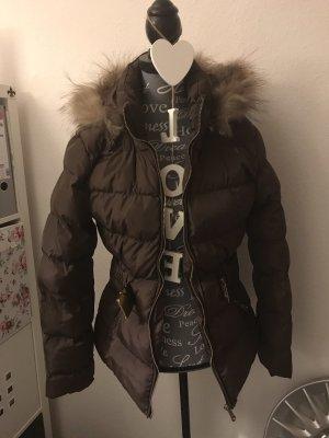 Cappotto invernale marrone-nero