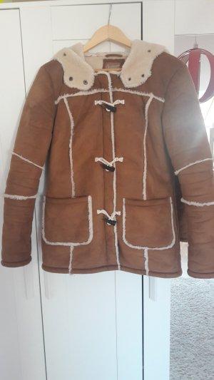 Braune Winterjacke von C&A Größe 38 Felljacke