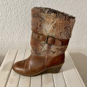 MARC Fur Boots cognac-coloured-brown