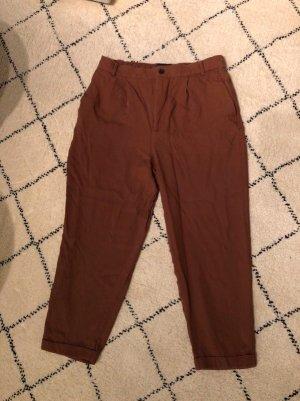 Zara Pantalon 3/4 brun-marron clair