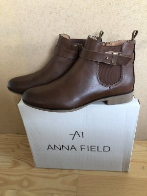 Anna Field Ankle Boots cognac-coloured