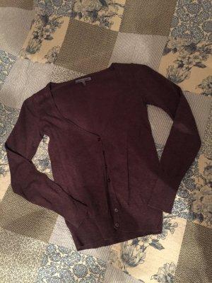 Brauner Basic Cardigan mit Knöpfen Gr. 38 M