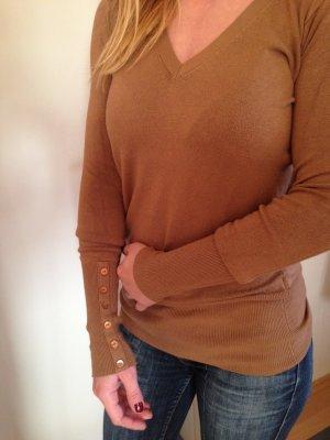 brauner Basic-Pulli, Zara, Größe S