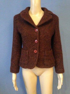 Brauner Blazer aus Bouclé-Wolle