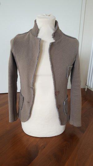 Knitted Blazer brown cotton