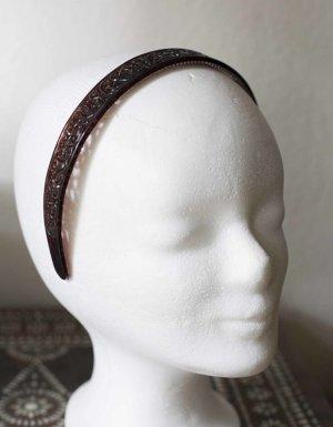 Brauner breiter Haarreifen mit Muster NEU