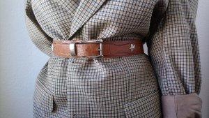 Brauner Cowgirl Taillengürtel 75 Vintage in Lederoptik mit Abnähern und Sternen