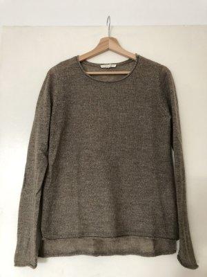 Esprit Kraagloze sweater lichtbruin