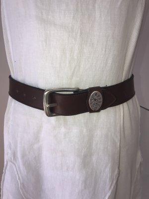 Brauner Echtleder-Gürtel * von Blue System * Größe 75 * NEU * Vintage-Style