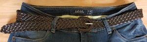 Cintura intrecciata marrone-marrone scuro