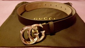 Brauner Gucci Gürtel
