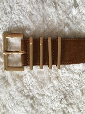 H&M Belt brown-gold-colored