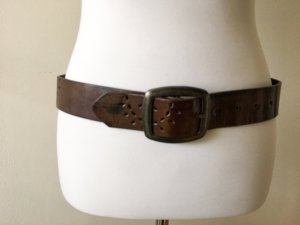 C&A Faux Leather Belt brown-silver-colored