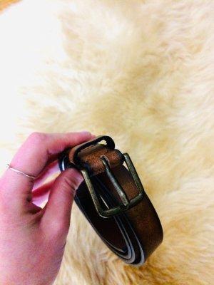 Pull & Bear Cintura in ecopelle marrone Finta pelle