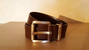Pieces Faux Leather Belt brown
