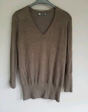 brauner langer Pullover /kurzes Pulloverkleid von Zara