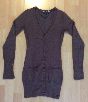 Brauner langer Pullover/Weste von Clockhouse in der Größe xs