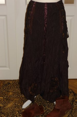 Crash Skirt black brown polyester