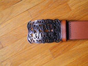 """Brauner Leder-Gürtel von Ralph Lauren (Größe 95) aus der """"RLL""""-Kollektion"""