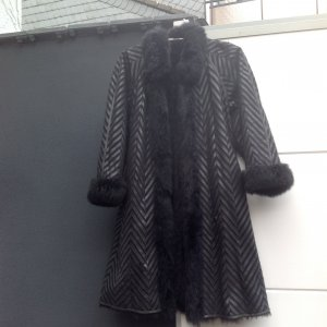 Cappotto in pelle marrone Pelle