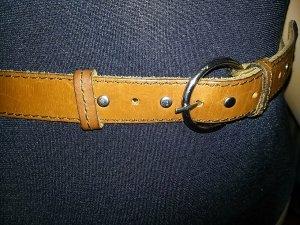 brauner Ledergürtel 2 cm breit