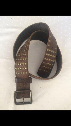 Joop! Cinturón de cuero marrón oscuro-marrón