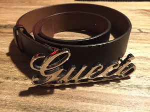 Brauner Ledergürtel von Gucci