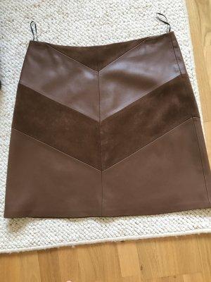 1.2.3 Paris Faux Leather Skirt bronze-colored imitation leather