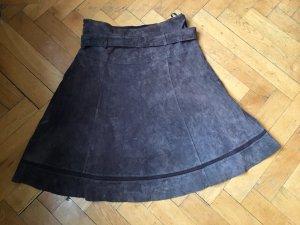 Promod Leren rok zwart bruin