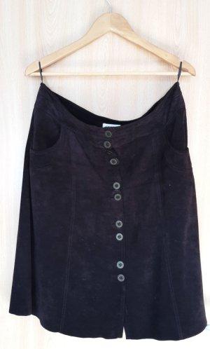 Orsay Falda de cuero marrón-negro Cuero