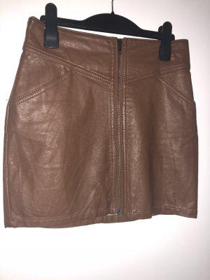 Brauner Lederrock von H&M
