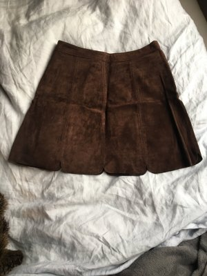 Zara Leather Skirt multicolored leather