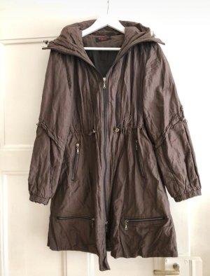 Abrigo de entretiempo marrón oscuro